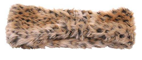 Faux Fur Headband - Womens Faux Fur Fashion Headband - Leopard