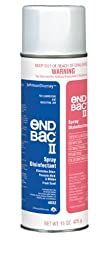 End Bac II Disinfectant Spray, 15 oz. Aerosol Cannister (Pack of 12)