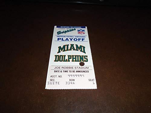 Kansas City Chiefs Wild Card - 1990 MIAMI DOLPHINS VS KANSAS