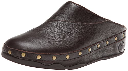 FitFlop Womens Gogh Studsy Leather Mule Chocolate Brown spfZAAy