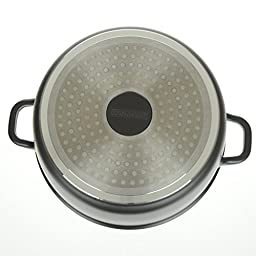 Professional Die-Cast Aluminum Casserole - 5QT - Induction Bottom, Extra Thick Gauge, Ultra Non-Stick Stone Finish, Glass Lid with Steam Hole - By Unity
