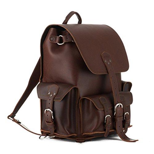 Saddleback Leather Front Pocket Backpack – Best For School, Business or - Genuine Backpack Leather New Large