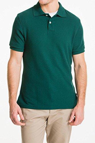 Lee Uniforms Mens Short Sleve Uniforms Polo  Hunter Green  Small