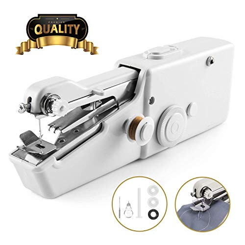 Handheld Sewing Machine, Cordless Handheld Electric Sewing Machine, Quick Handy Stitch for Fabric Clothing Kids Cloth Pet Clothes (Battery Not ()