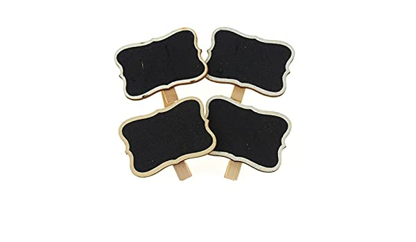 Assorted Style 2 Firefly Imports Chalkboard Wooden Clothespins Tags 4-inch 4-Pack