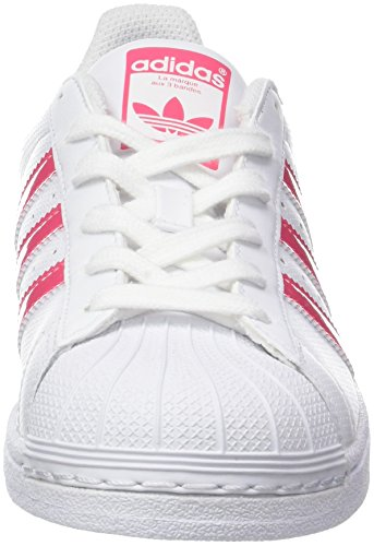 ftwr Cassé White Adidas ftwr Pink S18 Superstar Blanc Baskets Mixte real Enfant White X4pPg