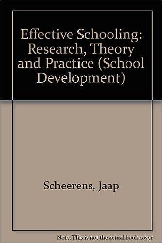 Scheerens effective schooling research paper
