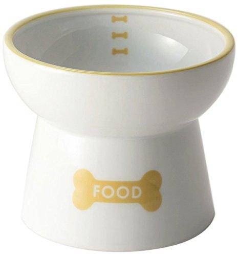 D-culture 犬用 脚付フードボウル 陶器食器