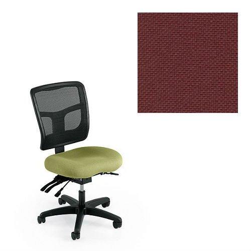 Office Master Yes Collection YS72 Ergonomic Task Chair - No Armrests - Black Mesh Back - Grade 1 Fabric - Basic Burgundy 1013 Plus Ergonomics eBook ()