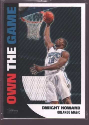 - DWIGHT HOWARD 2008-09 TOPPS OWN THE GAME USED WORN JERSEY PATCH ROCKETS $12