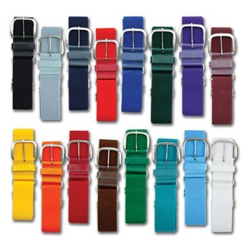 Champro Elastic Baseball Belt with 1.5-Inch Leather Tab (Maroon, ()