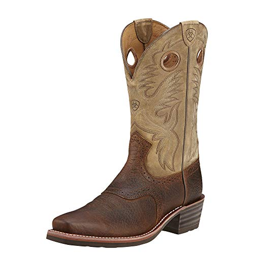 ARIAT Men's Heritage Roughstock Western Boot Earth Size 14D