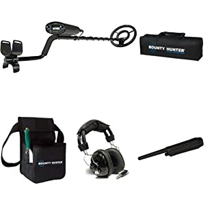Bounty Hunter TK4 Tracker IV Metal Detector with carry bag, pinpointer, headphones and combo