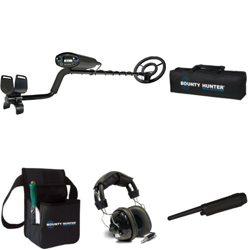 Bounty Hunter TK4 Tracker IV Metal Detector with carry bag, pinpointer, headphones and combo kit by Bounty Hunter