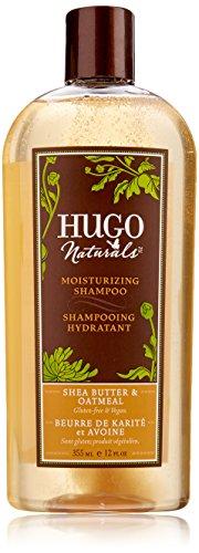 Hugo Naturals Shampoo, Shea Butter and Oatmeal, 12 Ounce Bottle