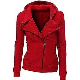 Juicy Trendz® Womens Hoodie Ladies Biker Jacket Fleece Top Sweatshirt