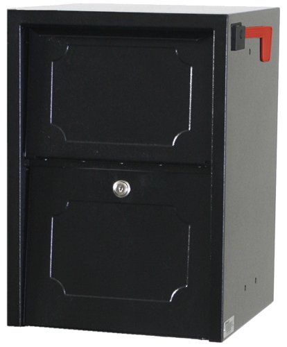 UPC 897100000517, dVault® Weekend Away Vault DVJR0060 Locking Post/Column Mount Mailbox (Black)