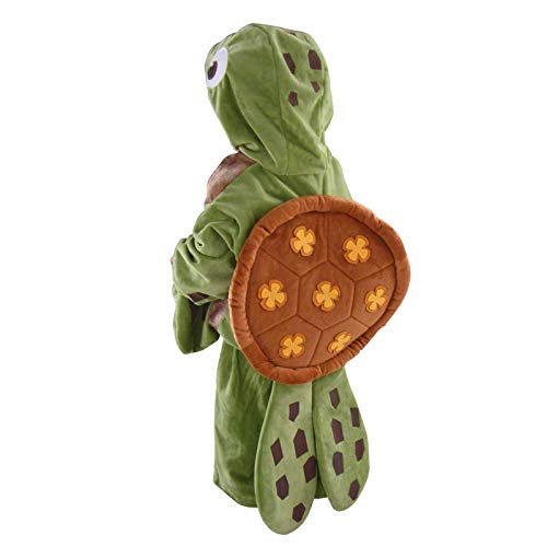 Turtle Costume Kids Sea Animal Cosplay Halloween Fancy Dress Ocean Chelonia Mydas Party Outfit (L) -