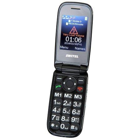 SWITEL Mobiltelefon mit Grosstasten Tischladeschale XL