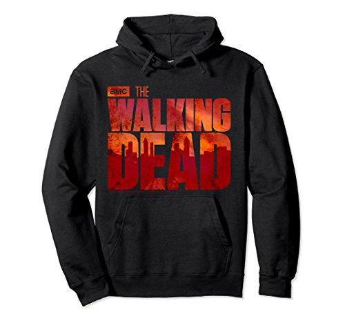 Unisex The Walking Dead Blood Logo Hooded Sweatshirt Small Black