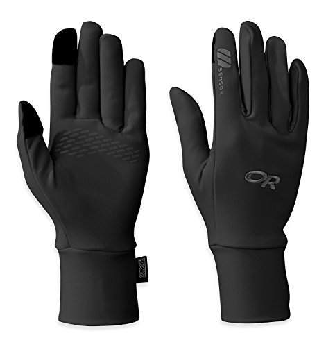 (Outdoor Research Women's PL Base Sensor Gloves, Black,)