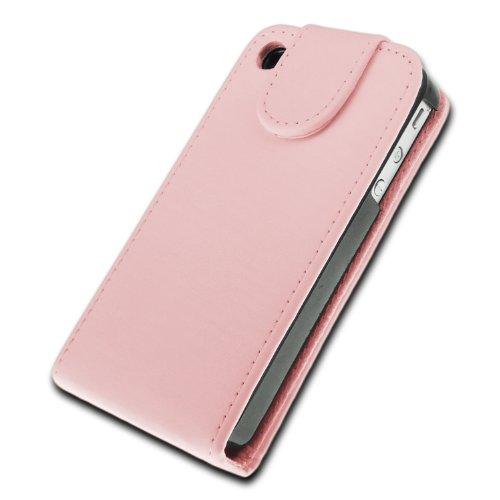 deinPhone - iPhone 4 4S Case Schutzhülle Schutz Handy Hülle Bumper Tasche Etui Kunstleder in Rosa
