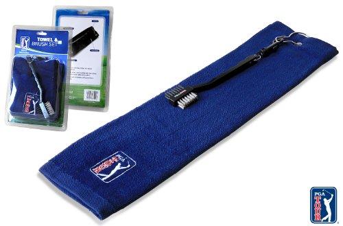 (PGA TOUR Towel Brush - Blue)
