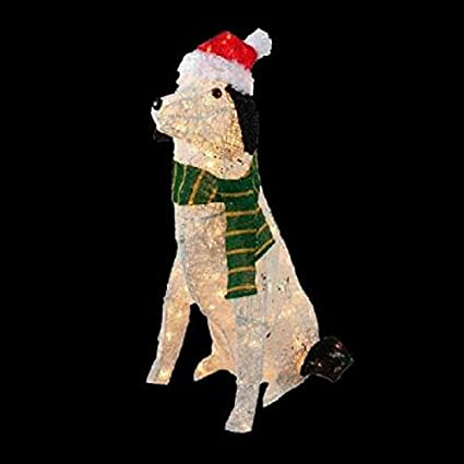 new 30 grapevine lighted outdoor shepherd dog christmas decoration