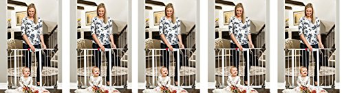 "Regalo Easy Step Walk Thru Gate, White, Fits Spaces Between 29"" to 39"" Wide (5-(Pack))"