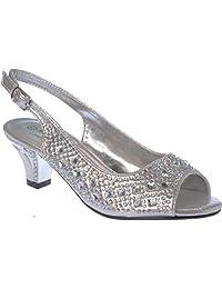 ck-41 Girl Evening Sandal Rhinestone Dress-Shoes