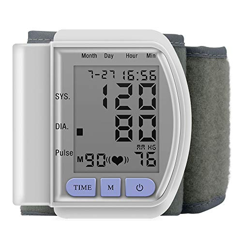 Timagebreze LCD Wrist Bp Blood Pressure Monitor Pulse Rate Fitness Blood Pressure Tonometer Cuff Automatic Health Monitor