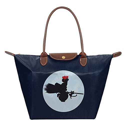 Tombo Cosplay Costume (Kiki's Delivery Service Waterproof Nylon Folding Shoulder Bag For Women Navy)