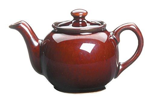 Fox Run Earthenware Teapot, 2 Teacups, Brown