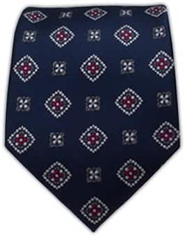 The Tie Bar Excalibur Medallion 100% Woven Silk Navy Tie