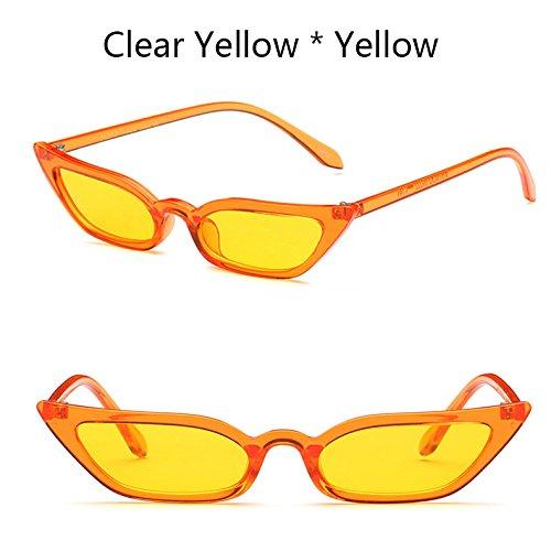 TIANLIANG04 Gafas De C1 Sol Gafas De De Gafas Ojo Pequeñas Lujo De Uv400 Vintage De Tonalidades C3 Mujer La Gato Sexy rq4wr6v