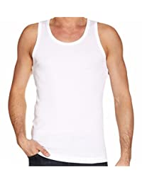 Mens Multi Pack Lot Basic Regular Fit 100% Cotton Vest Tank Top