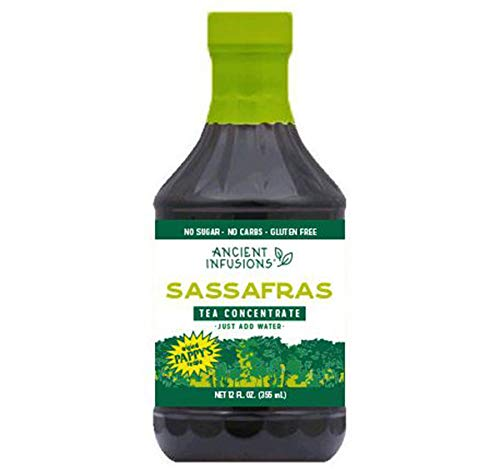 Ancient Infusions Tea Concentrates: Your Choice of Sassafras Tea, Green Tea, Raspberry Tea or Peach Tea 12 oz. Bottles (Sassafras Tea, 2 Bottles)