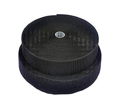 50mm Black Hook and Loop Adhesive Tape 25m