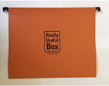 Pack de 10 carpetas colgantes tamaño folio para 24 35 42 64 litros Really Useful caja -: Amazon.es: Oficina y papelería