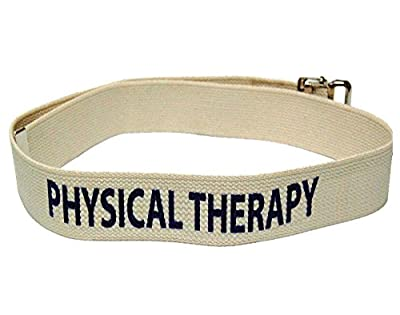 "Kinsman Enterprises 80736 Department Labeled Gait Belt, Physical Therapy, 2"" Width, 72"" Length, #8 Natural"