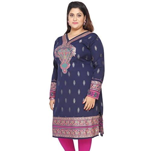 f4f393d839 new Maple Clothing Plus Size Women s Dress Indian Tunics Kurti Long ...