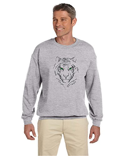 - Gildan Men's Heavy Blend Crewneck Sweatshirt Custom Embroidered Warm Fleece Gift