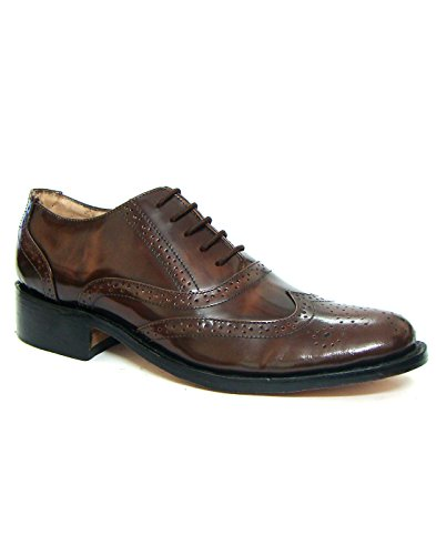Handmade Goodyear Welted Brogue Monk CALF Leather Shoes ( Argentinean Leather Sole and 1.5