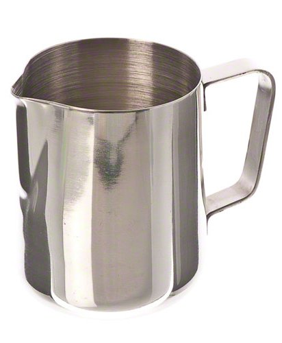 Update International (EP-12) 12 Oz Stainless Steel Frothing - Cream Pitcher