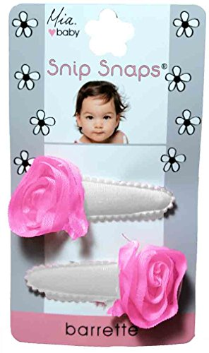 MIA Snip Snaps, Hair Barrettes, Rosettes On Jersey, Assorted Colors, 5x3x0.5