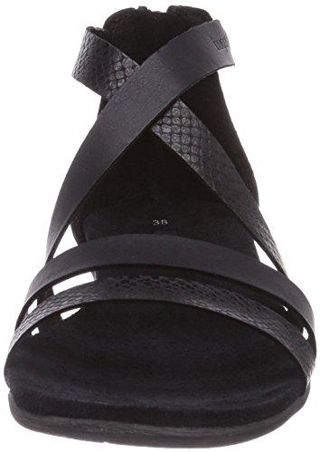 Bugatti W59726B6R - Sandalias de vestir de material sintético para mujer negro - negro
