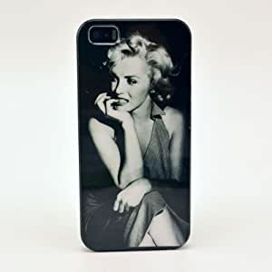 For Iphone5 IMD Cartoon Floral Retro Tiger Marilyn Monroe Case for Iphone 5s 5g Mobile Phone Cover Shell (M1) by ruishername
