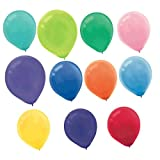 Amscan Perfect Plain Balloons Assorted Colors Latex 9'' Pack 25 Childrens Party (100 Piece)