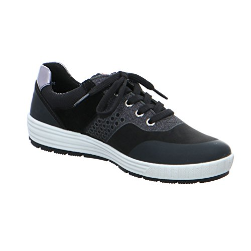 mujer 12 05 de ara para Zapatos cordones 0 negro 49490 q6d4xnxTf8