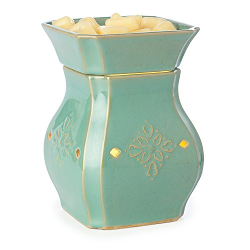 Candle Warmers Etc. Illumination Fragrance Warmer, Vintage Turquoise